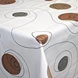Wachstuch | Tischdecke abwaschbar Biertischdecke mit Fleecerücken 200 cm x 140 cm (Kreise Deluxe)