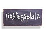 Wandschild Metall Shabby Dekoschild Lieblingsplatz Dekoration von Haus der Herzen ®