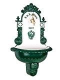 Waschbecken Brunnen Wandbrunnen 72cm Alu Garten im antik Stil fountain garden