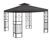 WASSERDICHT Pavillondach Anthrazit 2,98x2,98m Dach Pavillon Pavillion PVC
