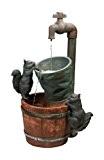 Wasserhahn und Eichhörnchen - Brunnen mit Solarbetrieb