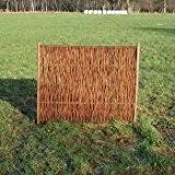 Weidenzaun / Flechtzaun 'Dansk' als Sichtschutz und Windschutz - Sichtschutzwand 1 Stück, 120 x 140 cm