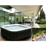 Whirlpool In-Outdoor Pool Bubble Spa Wellness Massage Heizung aufblasbar 158x158cm 4 Personen