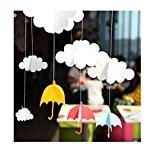 Wolke Regenschirm hängenden Charme Ornamente Dekor Partei-Ausgangsdekor-Girlande bunt für Kinder Schlafzimmer, Fenster Dekor (A)