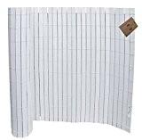 WPC Zaun/ Sichtschutzmatte, Sichtschutzzaun 1x2,50 m langer. Farbig lackiert Weiß .B Cottage