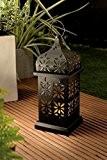 XL LED Solar Leuchte Garten Solar Laterne Metall pulverbeschichtet - Große Designer Solarlaterne mit flackernder LED und Lichtsensor - aus ...
