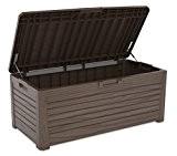 XL Toomax Kissenbox #Z155 Florida braun 550 Liter Inhalt Holz Optik - mit Sitzfläche 350 kg Tragkraft - absolut wasserdicht ...