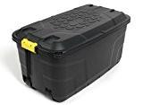 XXL Transportbox / Kissenbox mit 145 Liter Fassungsvermögen und vier Rollen! Abnehmbarer und abschließbarer Deckel, Nässe-geschützt und in robuster Ausführung! ...
