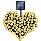 YOEEKU 200er LED Solar Lichterkette Garten Außen Licht Warmweiß 20M, 8 Modi Dekorative Beleuchtung für Terrasse, Party, Hochzeit, Camping, Weihnachten, ...