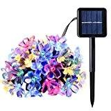 YOEEKU LED Blumen Solar Lichterkette 5 Meter 50er, Wasserdicht, Außenlichterkette, Weihnachtsbeleuchtung, 8 Modes Solar Blüten Leuchtkette für Garten, Hochzeit, Party ...