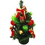 ZARU Mini Weihnachtsbaum-Dekoration, Delicate Verzierungs (Rot)
