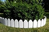 Zaun Rasenkanten Beeteinfassung Palisade Beetumrandung Garten Rasen Zierzaun Gartenzaun weiß 2,36 m
