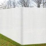 Zaun-Sichtschutz 500x180cm Weiß - Zaunblende UV-Schutz & Befestigung witterungsbeständiger Windschutz
